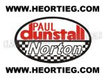 Paul Dunstall Norton Tank and Fairing Transfer Decal D20084-1